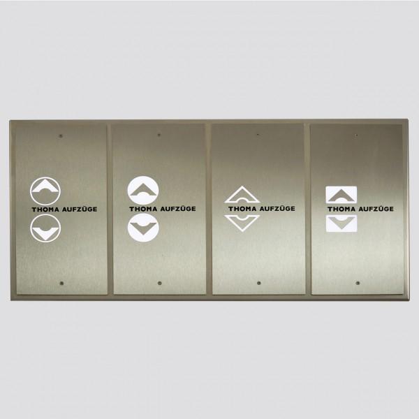 Außentableau Edelstahl K240 mit Sensortaster Edelstahl K240 Übersicht