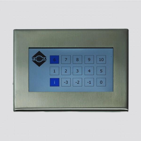 Außentableau Edelstahl K240 für Zielwahlsteuerung mit Touchscreen